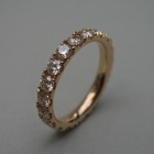 Nr. 102, 750/000 Rosegold, 20 Brillanten Champ./LPR (3 mm, 2,15 ct), red. Fishtail