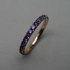 Nr. 110, 750/000 Rosegold, 30 Safire (purple intense) (2 mm, 1,14 ct), Fishtail