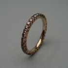 Nr. 181, 750/000 Rosegold, 35 Brillanten Cognac natur dunkel (1,8-1,85 mm, 0,9 ct), Fishtail