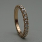 Nr. 19, 750/000 Rosegold, 26 Brillanten Champ./VSI (2,2 mm, 1,1 ct), red. Fishtail