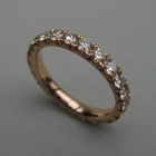 Nr. 40, 750/000 Rosegold, 22 Brillanten Champ./LPR (2,8 mm, 1,92 ct), Fishtail