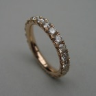 Nr. 55, 750/000 Rosegold, 23 Brillanten Champ./VSI+ (2,8 mm, 1,94 ct), Fishtail
