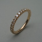 Nr. 90, 750/000 Rosegold, 31 Brillanten Champ./LPR  (2 mm, 1 ct), red. Fishtail